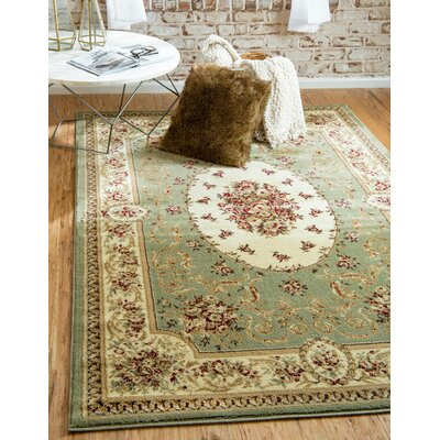 Oskar Green Area Rug Rug Size: Rectangle 7 x 10