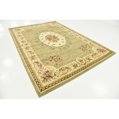 Oskar Green Area Rug Rug Size: Rectangle 9 x 12