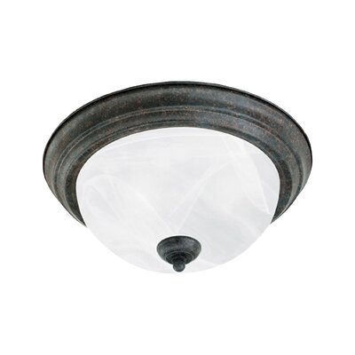 Asro 2-Light Alabaster Flush Mount