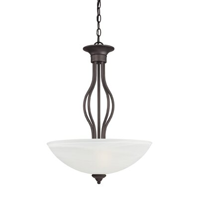 Clara 3-Light Inverted Pendant Finish: Painted Bronze