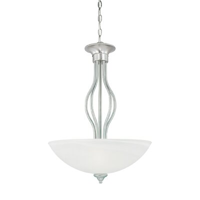 Clara 3-Light Inverted Pendant Finish: Brushed Nickel
