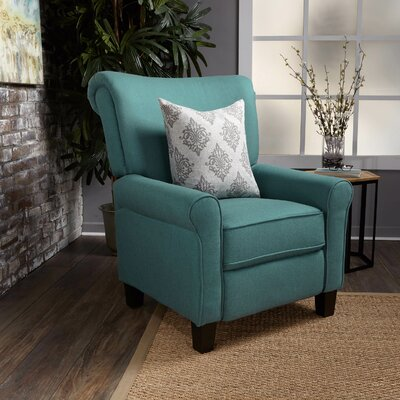 Gladstone Fabric Push Back Recliner Upholstery : Dark Teal