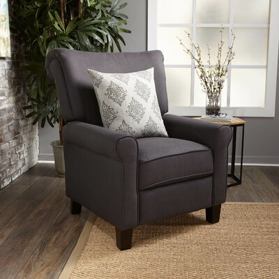 Gladstone Fabric Push Back Recliner Upholstery : Dark Charcoal