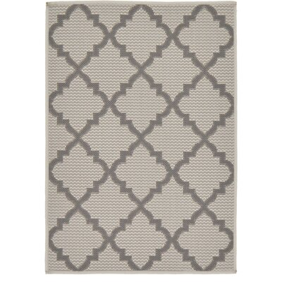 Templepatrick Gray Outdoor Area Rug Rug Size: Rectangle 53 x 8