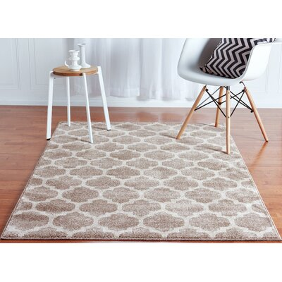 Moore Tan Area Rug Rug Size: Rectangle 4 x 6