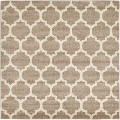 Moore Tan Area Rug Rug Size: Square 6 x 6