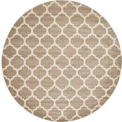 Moore Tan Area Rug Rug Size: Round 8