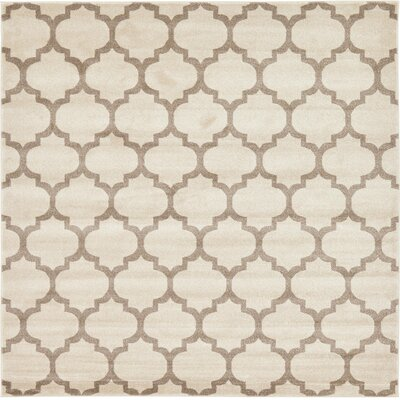 Moore Beige & Tan Area Rug Rug Size: Square 8'