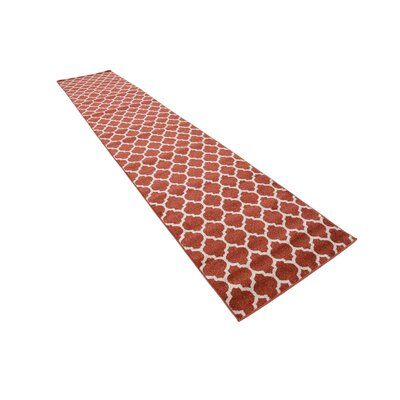 Moore Rust Area Rug Rug Size: Runner 27 x 13
