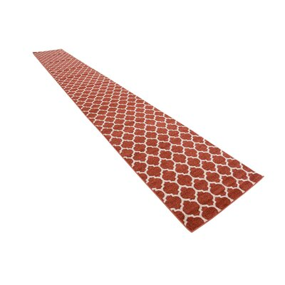 Moore Rust Area Rug Rug Size: Runner 27 x 198
