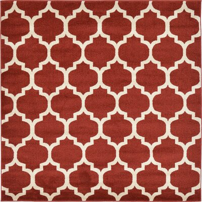 Moore Red Area Rug Rug Size: Square 6