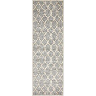 Moore Light Gray Area Rug Rug Size: Runner 27 x 8