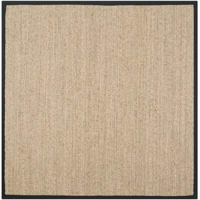 Driffield Hand-Woven Natural/Black Area Rug Rug Size: Square 8