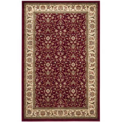 Silvera Red/Ivory Area Rug Rug Size: Rectangle 4 x 6