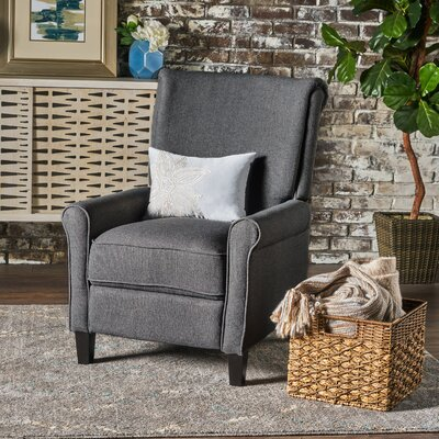 Rhoades Fabric Recliner Upholstery: Charcoal