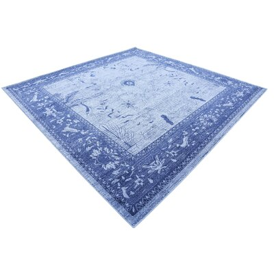 Berthold Blue Area Rug Rug Size: Square 6