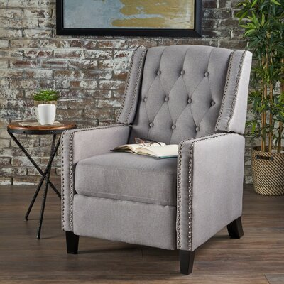 Marathon Manual Recliner Upholstery: Light Gray