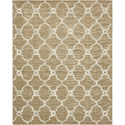 Garrity Brown Indoor/Outdoor Area Rug Rug Size: Rectangle 8 x 10