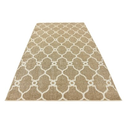 Garrity Brown Indoor/Outdoor Area Rug Rug Size: Rectangle 7 x 10