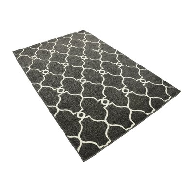 Gettinger Black Indoor/Outdoor Area Rug Rug Size: Rectangle 4 x 6