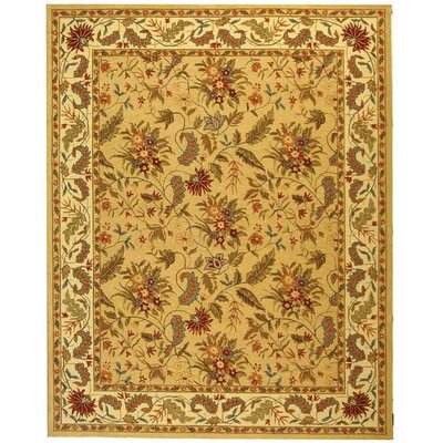 Helena Missy Floral Hand Hooked Wool Ivory/Red Area Rug Rug Size: Square 6