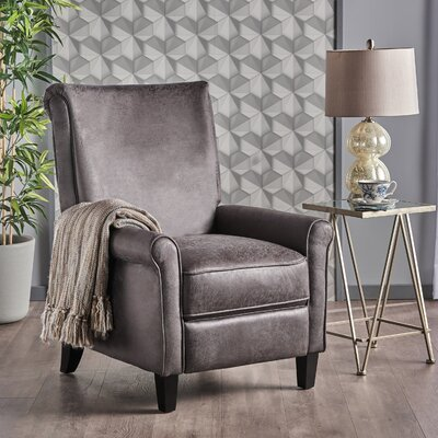 Gladding Manual Glider Recliner Upholstery: Slate