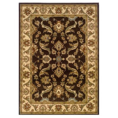 Rowena Persian Brown/Cream Area Rug Rug Size: 1'10