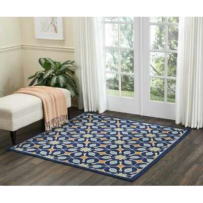 Lewis Navy Indoor/Outdoor Area Rug Rug Size: Square 53