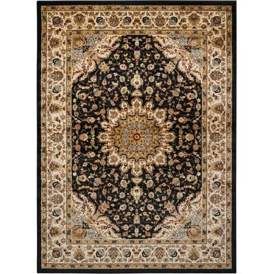 Ravens Black Area Rug Rug Size: Rectangle 710 x 1010