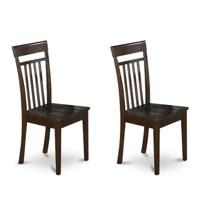 Smyrna Side Chair (Set of 2) Frame Color: Cappuccino, Upholstery Color: Wood