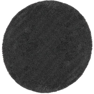 Parrish Dark Gray Area Rug Rug Size: Round 67