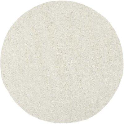 Parrish Ivory Area Rug Rug Size: Round 67