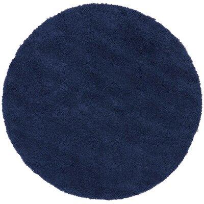 Parrish Navy Area Rug Rug Size: Round 67