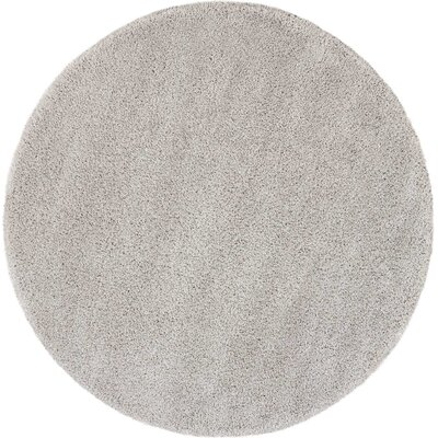 Parrish Gray Area Rug Rug Size: Round 67
