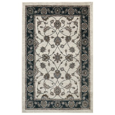 Millstone Cream/Black Area Rug Rug Size: Rectangle 5 x 8