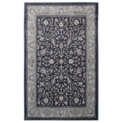 Millstone Navy Black/Gray Area Rug Rug Size: Rectangle 5 x 8