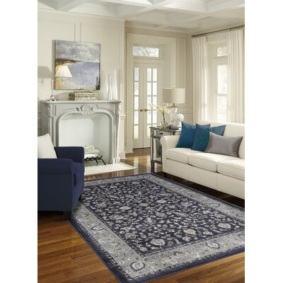 Millstone Navy Black/Gray Area Rug Rug Size: Rectangle 8 x 10