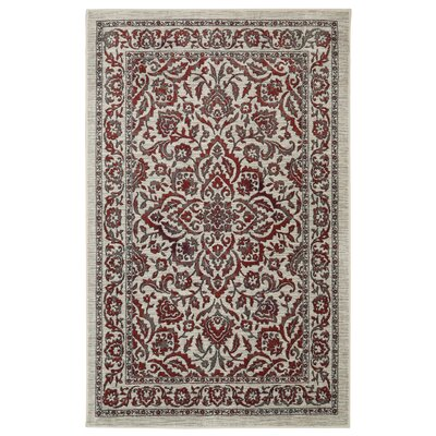 Millstone Burgundy/Cream Area Rug Rug Size: Rectangle 5 x 8