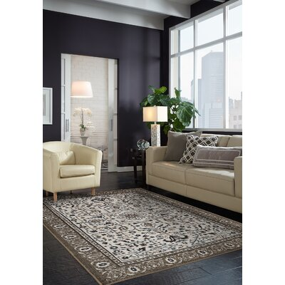 Millstone Chocolate Brown/Cream Area Rug Rug Size: Rectangle 8 x 10