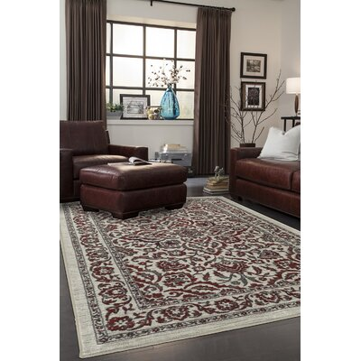 Millstone Burgundy/Cream Area Rug Rug Size: Rectangle 8 x 10