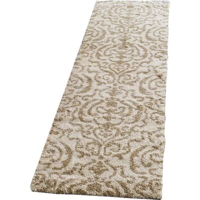 Hall Brown/Beige Area Rug Rug Size: Runner 23 x 9