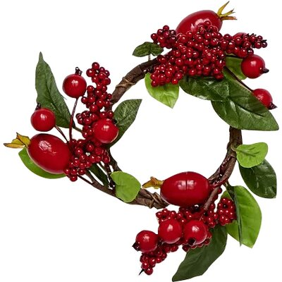 Charlton Home Mixed Berry Wreath (Set of 2)