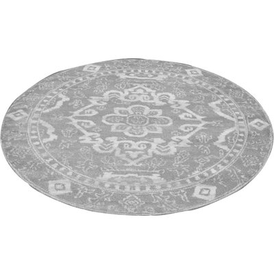 Norwood Gray Area Rug Rug Size: Round 67
