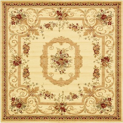 Crainville Beige Area Rug Rug Size: Square 10
