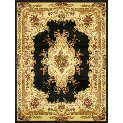 Oskar Black Area Rug Rug Size: Rectangle 7 x 10