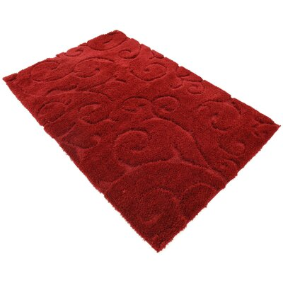 Baynes Floral Red Area Rug Rug Size: Rectangle 5 x 8