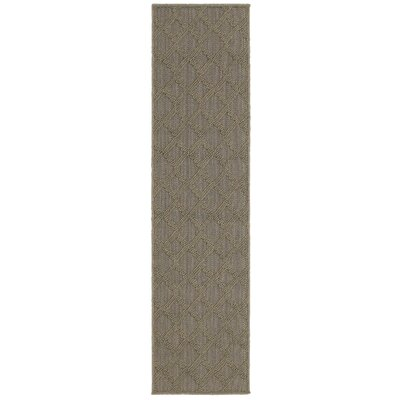 Carrow Gray Indoor/Outdoor Area Rug Rug Size: Runner 11 x 76