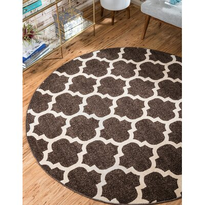 Moore Brown Area Rug Rug Size: Round 33