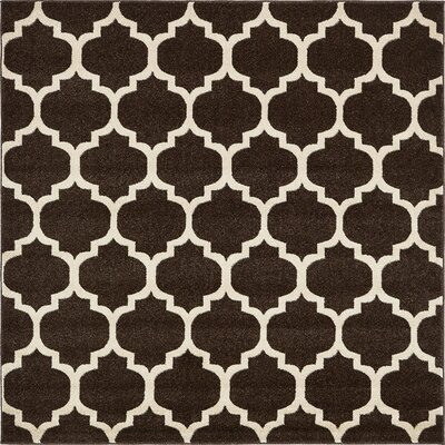 Moore Brown Area Rug Rug Size: Square 6