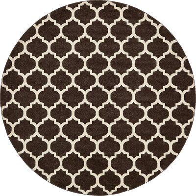 Moore Brown Area Rug Rug Size: Round 10